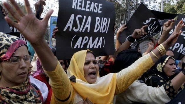 Manifestación a favor de la liberación de Asia Bibi, en Pakistán. / Archivo,