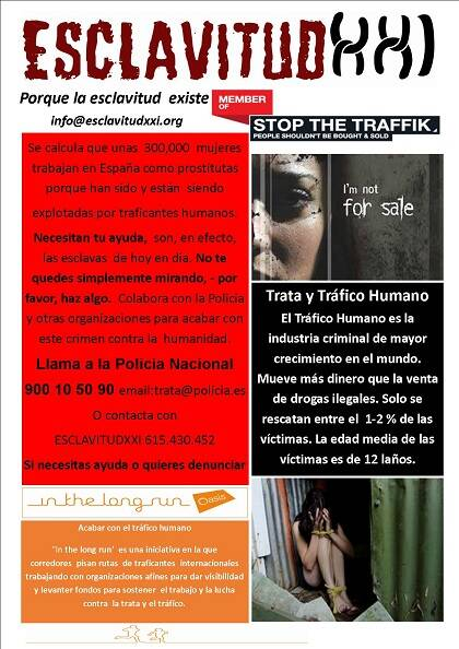 'Banner' informativo de la organización Esclavitud XXI. Foto: esclavitudxxi.org