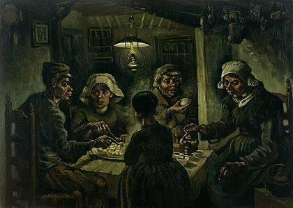 Van Gogh pintó este cuadro, cuando era evangelista en la cuenca minera del Borinage