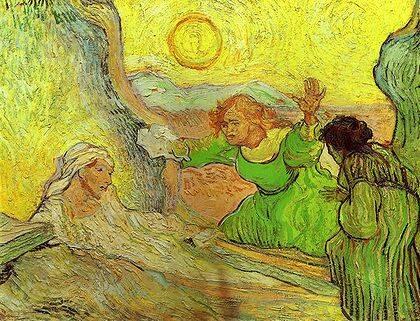 En La resurrección de Lázaro, sustituye a Cristo por un destello de sol