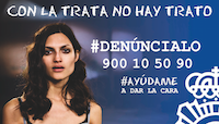 Cartel contra la trata, campaña de la Policía Nacional.