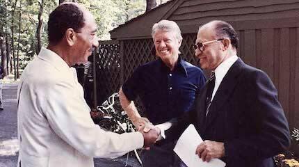 Uno de los logros de Carter fue el acuerdo acuerdo de Camp David entre Israel y Egipto, en 1978.