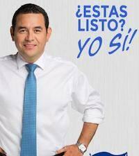Cartel promocional de Jimmy Morales, candidato a la presidencia. / Twitter