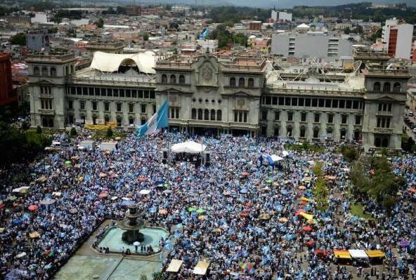 Manifestaciones en Guatemala contra la corrupción, el pasado mes de agosto de 2015. / La Tribuna,guatemala