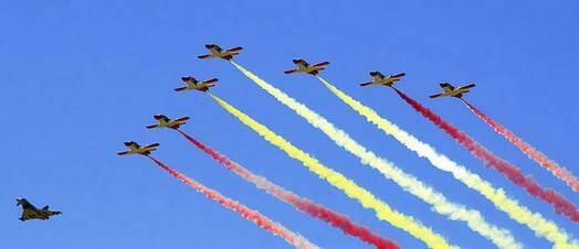 Exhibición aérea de las Fuerzas Armadas. / FB Reclutamiento FA,