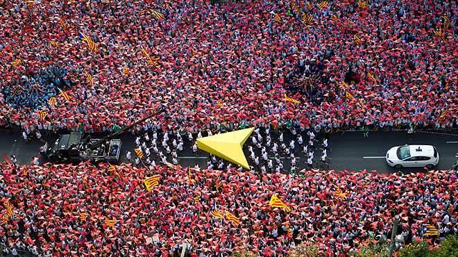 Manifestación durante la última Diada. / La Vanguardia,