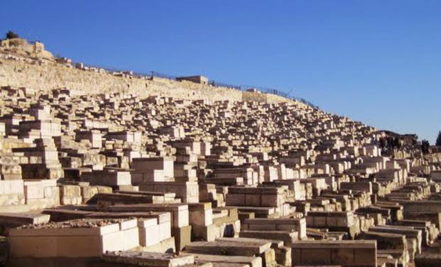 <p> Tumbas del cementerio del Monte de los Olivos.</p> ,