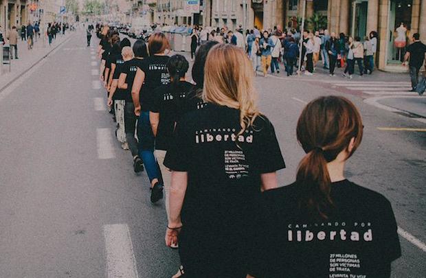 Caminando por Libertad, una de las iniciativas contra la trata. / A21Spain,a21 caminando por libertad