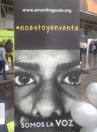 En Puerta del Sol, acto contra la trata.