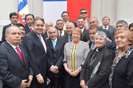 La presidenta Michele Bachelet participó el pasado año del Culto de la Reforma. / Gobierno Chile