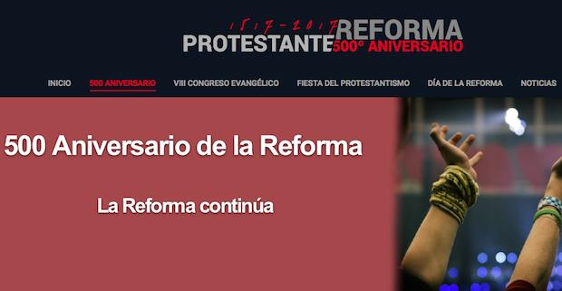 Captura de la web 500reforma.org.,