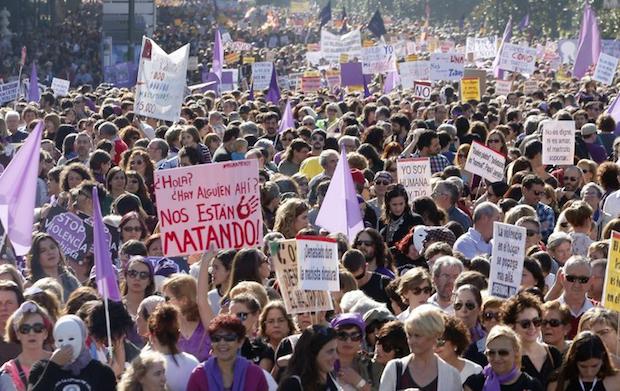 Manifestación contra la violencia de género, el 7 de noviembre. / RTVE,
