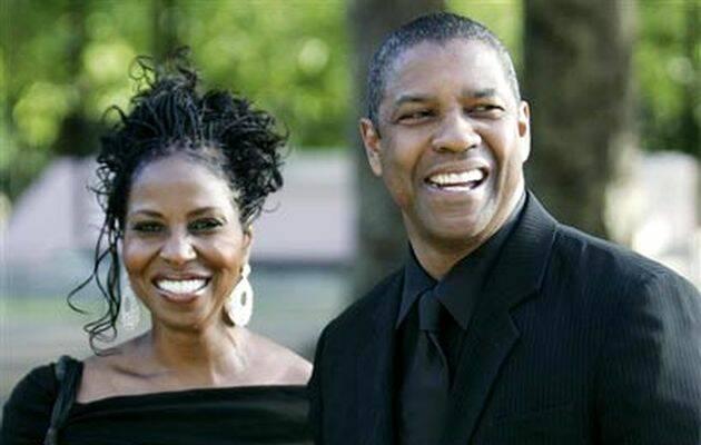 Denzel Washington con su esposa Pauletta,Denzel Washington