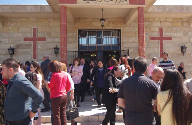 Iglesia cristiana en Erbil, capital del Kurdistán iraquí.,