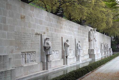 El muro de los reformadores en Ginebra.,