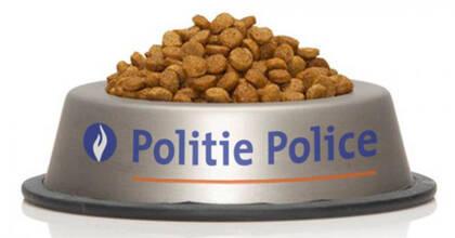 La policía belga twitteó esta imagen como agradecimiento a los medios de comunicación y a los usuarios de las redes sociales.