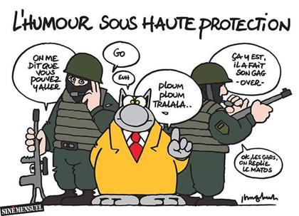 Le Chat, de Philippe Gelluck, fue una tira cómica diaria que se publicó en el diario belga francófono Le Soir hasta 2013. Se ha convertido en un símbolo del humor belga.