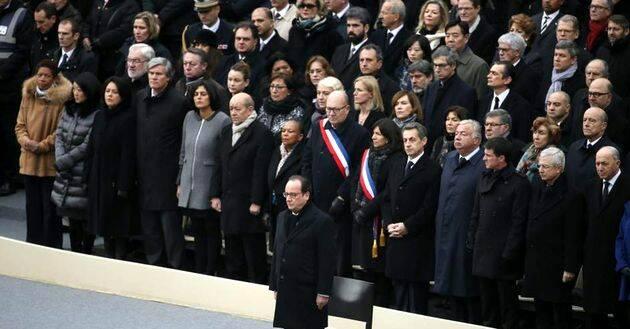 François Hollande, en el Funeral de Estado,François Hollande,, funeral París