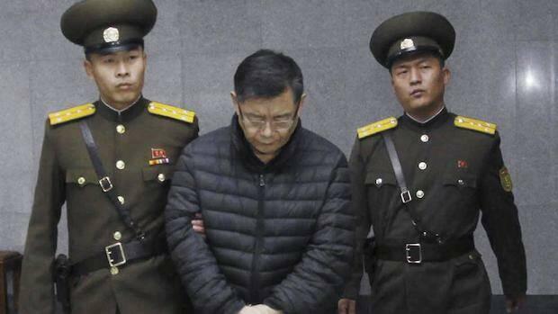 El pastor condenado por Corea del Norte.,