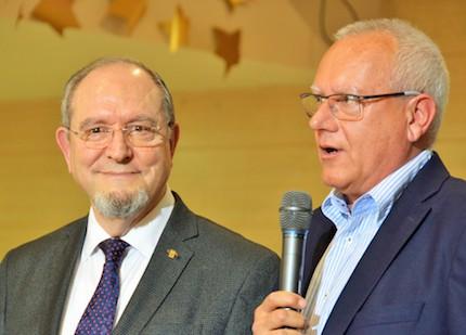 Jorge Pastor y el alcalde de Dénia, Vicent Grimalt.
