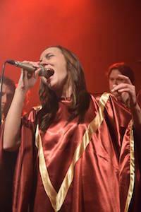 Silvia, una de las solistas del coro.
