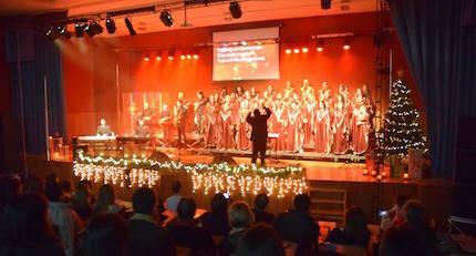 El coro visitó cinco ciudades estas Navidades.