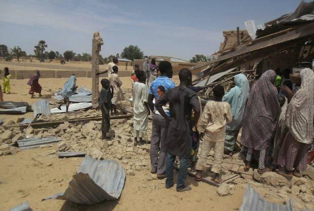 Una iglesia destruida por Boko Haram en Nigeria, en 2015.,boko haram