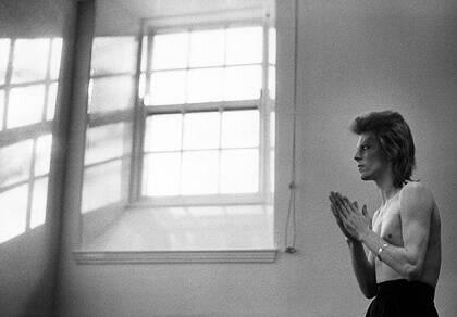 David Bowie, en Escocia, 1973.