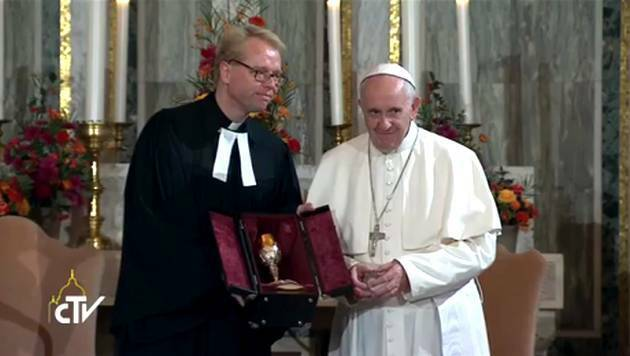 El papa Francisco visitó la Iglesia luterana de Roma,Papa Francisco, Iglesia luterana
