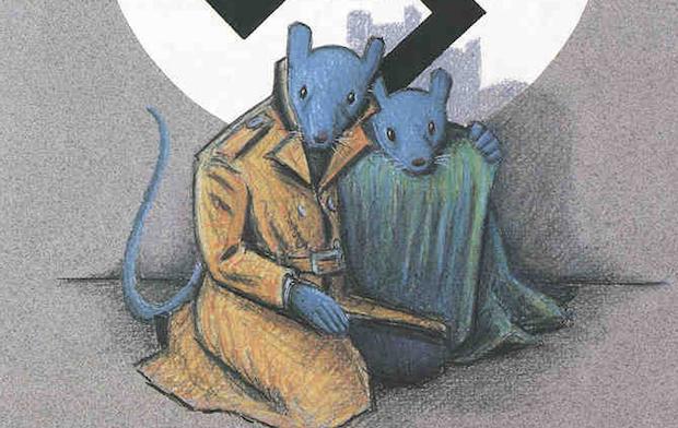 Detalle de la portada de Maus, de Art Spiegelman.,