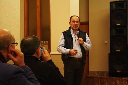 Paco Sánchez, de las Sociedades Bíblicas. / J.F.