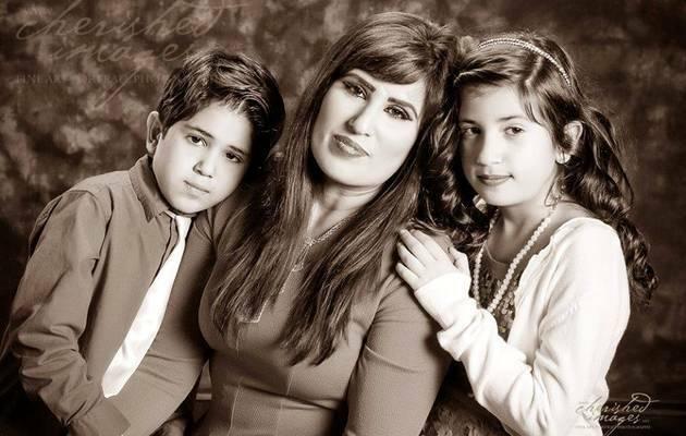 Naghmeh Abedini, con sus dos hijos / facebook,Naghmeh Abedini, familia Abedini