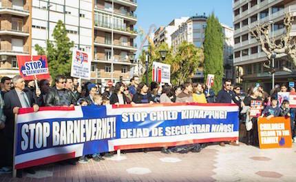 Manifestación contra el Barnevernet en Castellón, este pasado fin de semana.