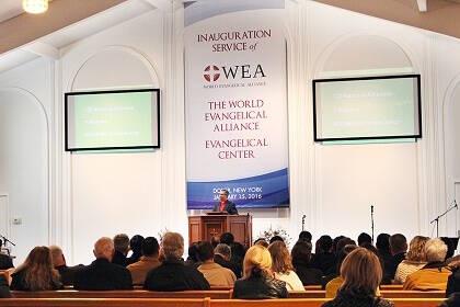 Efraim Tendero, secretario general de la WEA, durante el acto de inauguración. / WEA
