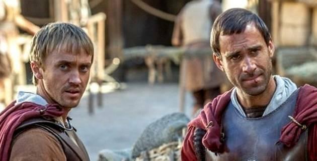 Lucius y Clavius (Tom Felton y Joseph Fiennes),Risen, Clavius Lucius