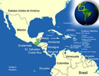 Localización de Guatemala en el mapa