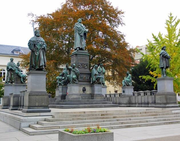 Monumento a Lutero en Worms. ,Monumento, Lutero, Worms