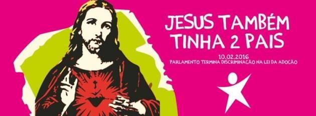 La publicidad estatal ha generado polémica en el país.,portugal jesus homosexualidad