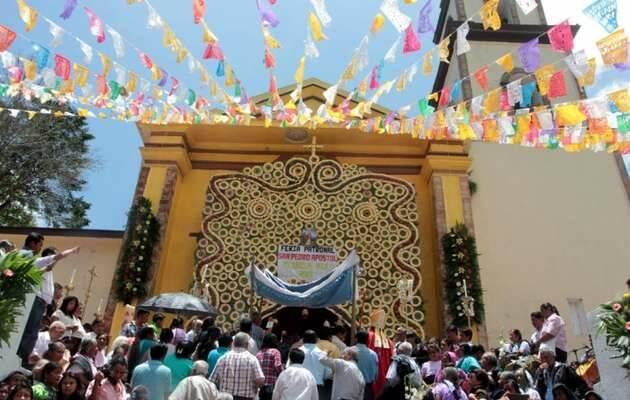Celebración católica en la Sierra de Zongolica,Sierra Zongolica, fiesta católica