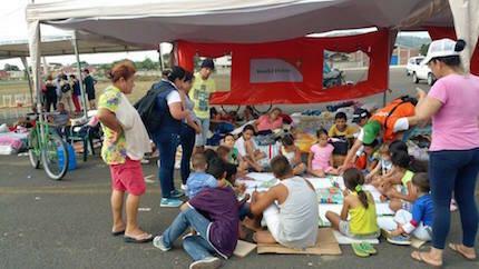 Espacio amigable para niños. / July Carrión, World Vision Ecuador.