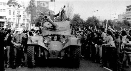 Tanques en las calles