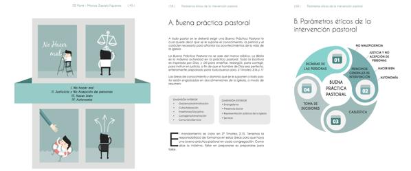 La guía cuenta con ilustraciones, gráficos y herramientas para tratar el tema del abuso espiritual.