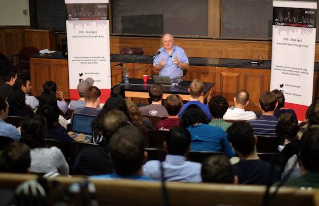 John Lennox, en una conferencia. / Fundación RZ,john lennox