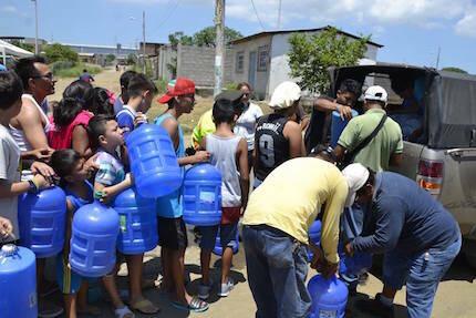 La Iglesia del Pacto Evangélico de Ecuador está atendiendo necesidades básicas de agua.