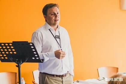 Andy Wickham, durante su seminario. / J.P. Serrano