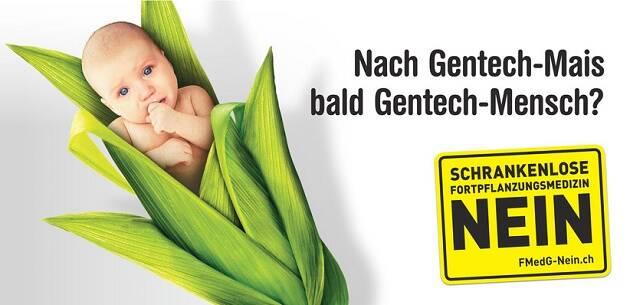 Campaña contra el diagnóstico genético preimplantacional, en Suiza. ,pre-implantation genetic diagnosis