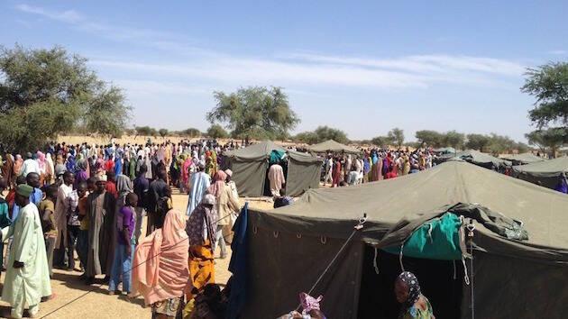 Desplazados por la violencia de Boko Haram se refugian en la región de Diffa, en Níger. ,niger desplazados boko haram