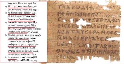 El papiro tenía similitudes con una falsificación del evangelio de Juan de 1920. / Mark Goodacre