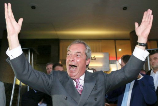 Nigel Farage, líder de UKIP, impulsor del movimiento a favor del Brexit.,Nigel farage