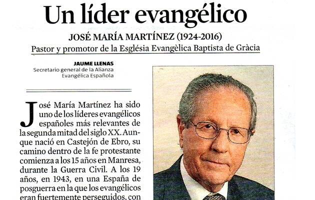Captura del artículo de La Vanguardia,Jose Maria Martinez, Jaume Llenas
